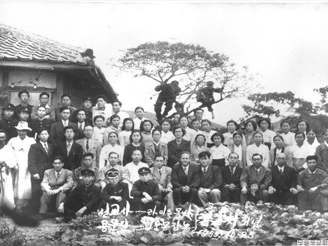 라이스 목사, 라운 몽장로 부흥회기념(1955.10.25)