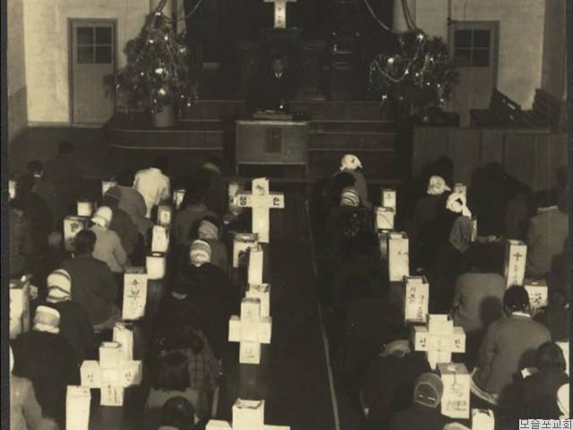 성타절 새벽   등불예배(1968.12.25)