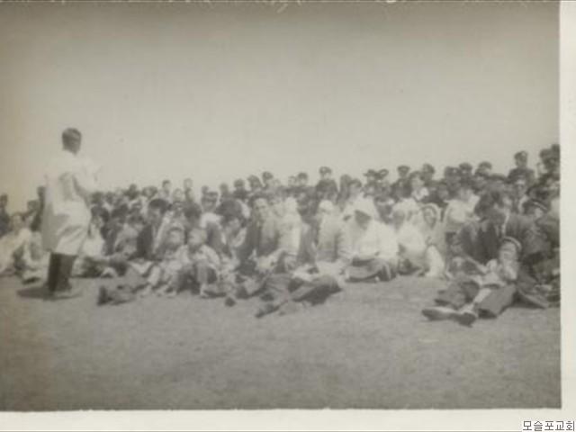 모슬포교회 야외예배   기념(1966.5.1)